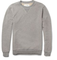 Maison Martin Margiela Leather Elbow Patch Cotton Sweater