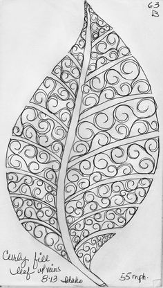 LuAnn Kessi: Sketch Book.....Leaf Designs 4