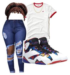 """Untitled #54"" by queenpetty on Polyvore featuring Hollister Co., Jordan Brand and Sterling Essentials"