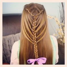 Waterfall Twists into Mermaid Braid | Cute Hairstyles and more Hairstyles from CuteGirlsHairstyles.com