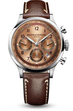 Baume et Mercier Capeland Ref# 10004  Beautiful copper-colored dial