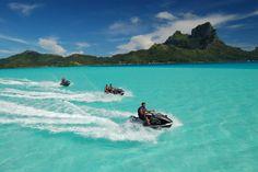Jet ski in Bora Bora! Think I'm adding this one to my bucket list :) Bucket List For Girls, Best Friend Bucket List, Bucket List Before I Die, Bucket List Life, Life List, Couple Goals Bucket Lists, Bucket List Tumblr, Boyfriend Bucket Lists, Puerto Vallarta