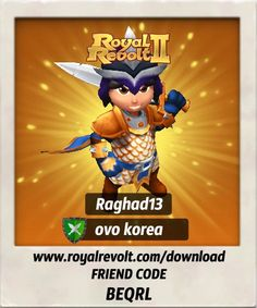 I just got some new gear, check it out!  Download Royal Revolt 2 on your mobile device: www.royalrevolt.com/download    Start the game and get an EPIC reward by entering this friend code: BEQRL