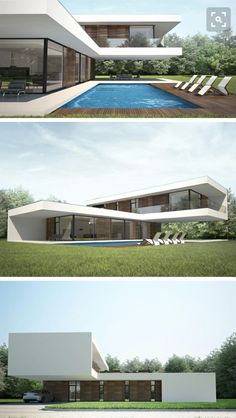 Modern Architecture House, Architecture Design, Modern Villa Design, House Front Design, Luxury Homes Dream Houses, Container House Design, Dream House Exterior, Dream Home Design, Modern House Plans