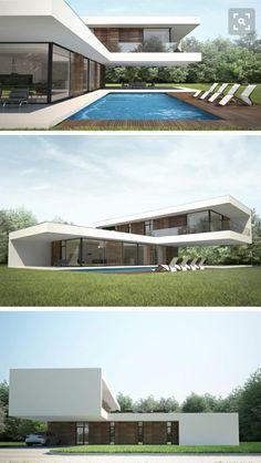 Dream Home Design, Home Design Plans, Modern Architecture House, Architecture Design, Modern Villa Design, Casas Containers, Modern Mansion, Container House Design, Modern House Plans