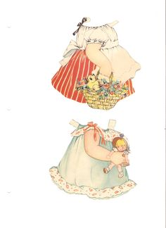 """Polly Pepper Paper dolls.  This """"set is from 1939 and the artist is Betty Bell Rea. I do not have the cover, but I'm happy with the set.  Many of the outfits have matching hats.  I'm not sure if the set is complete."""""""