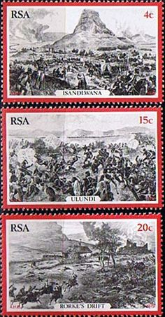 South Africa 1979 Centenary of Zulu War Set Fine Mint SG 459 61 Scott 519 21 Condition Fine MNH Only one post charge applied on multipule purchases