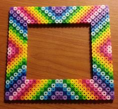 Rainbow Frame Perler Beads by MolilyGalleria