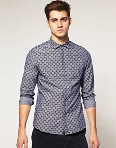 ASOS Slim Fit Chambray Shirt $53.72  NOW $37.60