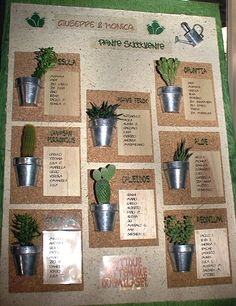 Plant table setting idea - cute display