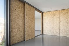 OSB is a trending wood panel decor used in architectural projects, shop fit-outs, cafes and offices. View our full range of Oriented Strand Board online House Design, Movable Walls, Wall Design, House Styles, Interior Design, House Interior, Osb Furniture, Interior Architecture, Home