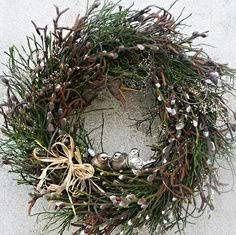 Diy Wreath, Grapevine Wreath, Easter Wreaths, Spring Crafts, Easter Crafts, Grape Vines, Garden, Christmas, Craft Ideas