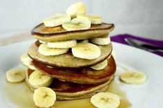 Protein Plantain Pancakes Plantain Pancakes, Pancake Stack, Taking Shape, Protein, Clean Eating, Healthy Recipes, Train, Breakfast, Food