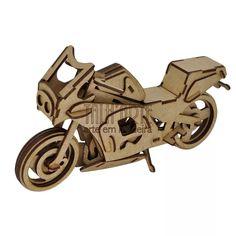 Moto Ninja. Quebra Cabeça 3d. Miniatura Em Mdf - R$ 45,00 no MercadoLivre