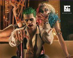 Joker and Harley Quinn Harley Quinn Tattoo, Joker Und Harley Quinn, Harley And Joker Love, Harley Quinn Drawing, Harely Quinn And Joker, Le Joker Batman, Joker Art, Gotham Batman, Batman Art