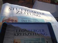 Zeitung morgens auf dem Balkon lesen, so muss es sein ...