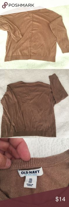 •Old Navy•  Camel-Colored Cardigan Sweater This soft, camel-colored cardigan pairs well with jeans, skirts and dresses. Wear buttoned-up or open, and toss in your bag for later. Machine-washable, no damage, no stains. Smoke-free home. Old Navy Sweaters Cardigans