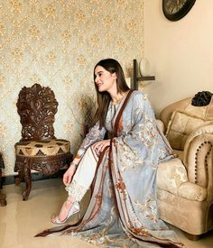 Image may contain: 1 person, indoor Pakistani Designer Suits, Pakistani Models, Pakistani Dress Design, Pakistani Suits, Pakistani Actress, Pakistani Dramas, Punjabi Suits, Pakistani Formal Dresses, Pakistani Fashion Casual