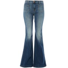J Brand Blue Demi High-Rise Flared Jeans ($360) ❤ liked on Polyvore featuring jeans, pants, bottoms, trousers, high waisted flare jeans, flare jeans, slim fit jeans, super skinny jeans and slim jeans