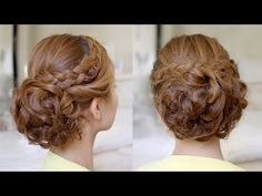 ▶ Hair Tutorial: Bridal Curly Updo with Braids - YouTube