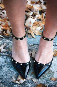 Black Studded Pumps ♥
