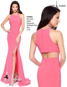 Abby Paris by Lucci Lu 93009 is a sexy fitted jersey gown with a front side slit and zipped up racerback. This simple body hugging dress has a back cut out for added intrigue. Show off your curves in this fabulous evening gown by Lucci Lu. Prom Dresses 2017, Bridesmaid Dresses, Summer Dresses, Body Hugging Dress, Barbie Dress, Western Wear, Dream Dress, Pretty Dresses, Designer Dresses
