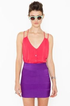 Downtown Skirt - Violet in Collections Color Coded at Nasty Gal