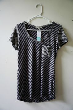Stitch Fix: Laila Jayde Alisa Mix Stripe Front Pocket Shirt, but only in black/gray or tan/brown- but I would like more color.