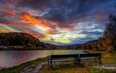 Have a seat, enjoy the sunrise by Rune Askeland