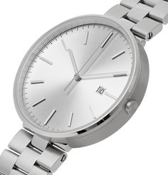 Uniform Wares Stainless Steel Watch In Silver Brushed Stainless Steel, Stainless Steel Watch, Uniform Wares, Timeless Fashion, Michael Kors Watch, Watches, Silver, Money, Clocks