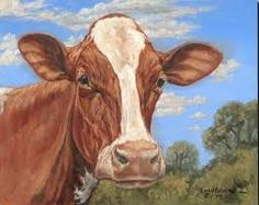 Image result for cow head painting