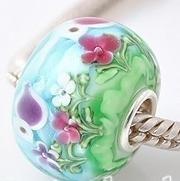 Spring Flowers Charm Bead - Pandora Compatible