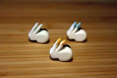 #Rabbit shaped #brooches by Pikolab, available on @etsy and @dawandaes