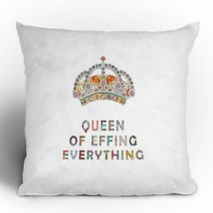 Her Majesty Throw Pillow 16x16 now featured on Fab.