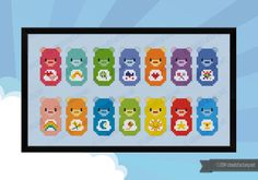 This is a parody, an inspirational cross stitch pattern of the cartoon Care Bears.  PATTERN DETAILS: Stitches: 110x55 Size (with 14 count Aida fabric): 20x10 cm – 7.9x3.9 in  With purchase, youll receive a DOWNLOAD LINK to a PDF pattern that includes: - Cover page with image and pattern size - Full color chart with symbols - DMC and Anchor floss legend and number of skeins needed  -------------------------------------- PLEASE NOTE -------------------------------------- This is an INSTANT…