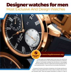 A high quality men's designer watch is the icing on the cake for any look, including that of a crisp and polished businessman or diplomat. Seeing as most people nowadays carry cell phones or other gadgets with the capability to tell time, it seems kind of odd that people
