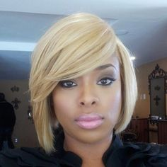 Black Women with Short Blonde Bob Hair Short Blonde, Blonde Bob Cuts, Short Hair Cuts, Short Hair Styles, Natural Hair Styles, Bob Styles, Curly Blonde, Short Bob Hairstyles, Afro Hairstyles