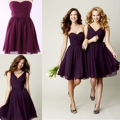 Cheap gown bridesmaid, Buy Quality dresses and gowns directly from China dress up wedding gowns Suppliers: Purple Bridesmaid Dresses Short Bridesmaid Dress Chiffon Beach Bridesmaid Dress Knee Length Short Wedding Party Bridesmaid Gown Dresses Short, Short Bridesmaid Dresses, Bridesmaid Ideas, Plum Dresses, Dresses 2014, Cheap Dresses, Homecoming Dresses, Nice Dresses, Pageant Dresses