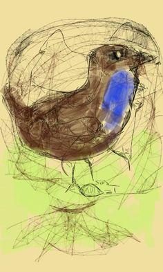 gevangen blauwborst