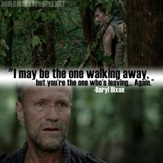 Daryl finally told Merle off! You're a simple-minded piece of shit! haha awesome and true.