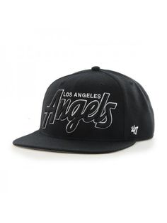 3488630121c035 We love the black and white retro feel of the Los Angeles Angels  Retroscript Blackout from Brand. Hatcountry Western-Wear · Baseball Caps