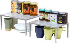 SimpleHouseware Expandable Stackable Kitchen Cabinet and ...