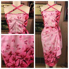 Hawaiian Wear, Vintage Hawaiian, Tiki Dress, Sarong Skirt, Pin Up Dresses, Mad, Floral Prints, Vintage Fashion, Retro