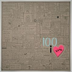 Inspiration -- 100 Things I Love -- UPDATE: I Did This! So easy...and it turned…