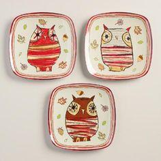 One Of My Favorite Discoveries At WorldMarket.com: Owl Melamine Plates, Set  Of