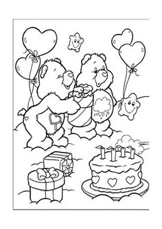 61 The Care Bears printable coloring pages for kids. Find on coloring-book thousands of coloring pages. Birthday Coloring Pages, Bear Coloring Pages, Disney Coloring Pages, Printable Coloring Pages, Adult Coloring Pages, Coloring Pages For Kids, Coloring Sheets, Coloring Books, Kids Coloring