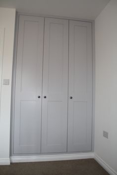 Fitted wardrobes with Shaker style doors