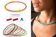 Elastische Sport Halskette M-Stile Schwarz