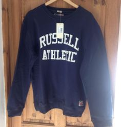 Russell Athletic Jumper BNWT Navy Size Xlarge Hose Reel, Russell Athletic, Jumper, Graphic Sweatshirt, Navy, Best Deals, Sweatshirts, Sweaters, Fashion