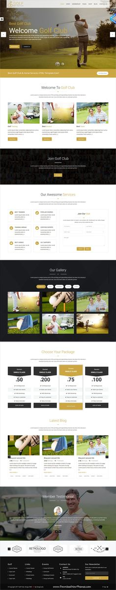 GolfClub is clean and modern design 2in1 responsive #bootstrap HTML template for #Golf course and #sports club website to live preview & download click on Visit